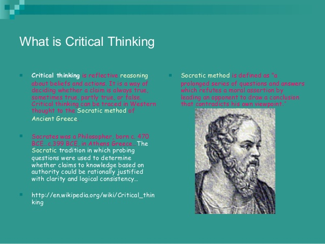 Critical thinking application paper june 2012